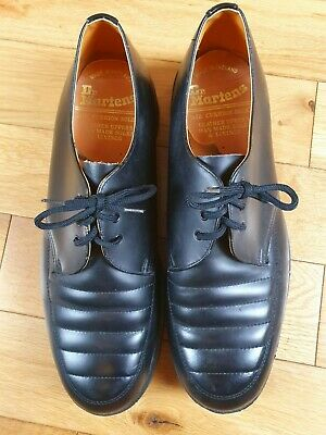 Mens Size 10 UK Dr Martens Made In England Black Leather Shoes - Very good condi