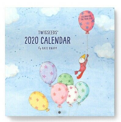 2020 Twigseeds Wall Calendar 30 x 30 cm by Affirmations Kate Knapp Free Post