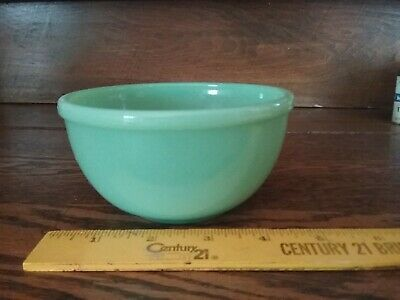 Vintage Fire King Green Jadeite Small Beaded Edge Mixing Bowl 6""