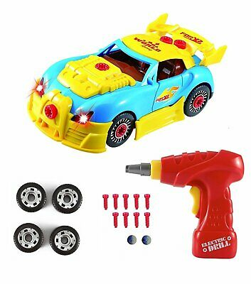 Construction Toys – Take Apart Toys Car Racing – 30 Take Apart Pieces With Reali