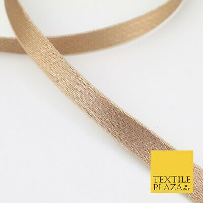 COPPER BROWN 18 Mtr Plain Woven Satin Ribbon 13mm Trimming Border Lace X276
