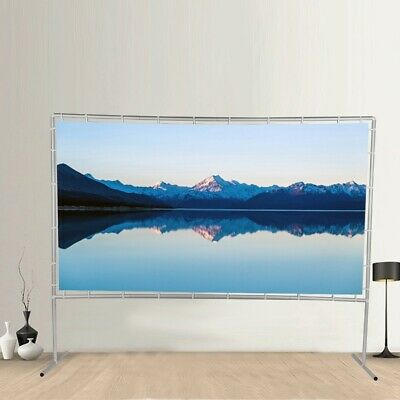 "120"" Projector Screen Portable Indoor Outdoor Projection with Stand"