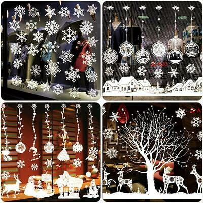 Christmas Home Glass Window Wall Sticker Decal Removable Large Decor PVC Gifts
