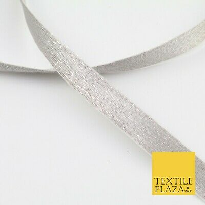 SILVER GREY 18 Mtr Plain Woven Satin Ribbon 13mm Trimming Border Lace X277