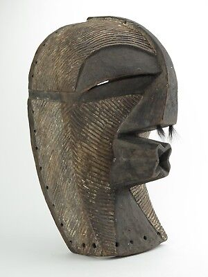 African tribal Art. Kifwebe Songye mask. Ethnographic Antique.