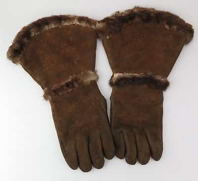 Native American Indian beaver gauntlets (embroidered thumbs). PROVENANCE