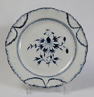 18th century Leeds Liverpool Swinton pearlware feathered rim plate.