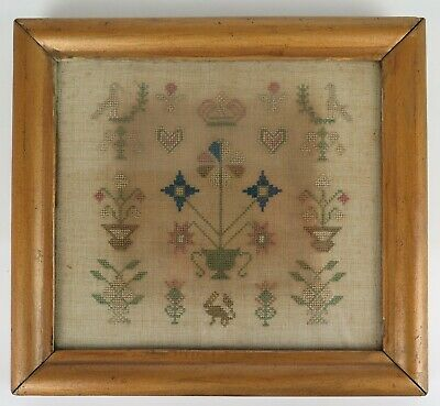 Early 19th century Darning Sampler with rabbit. c1815