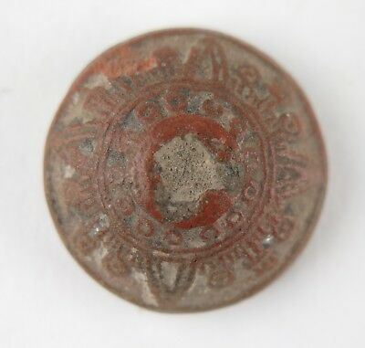 Pre-Columbian Mayan clay spindle whorl / button. Provenance