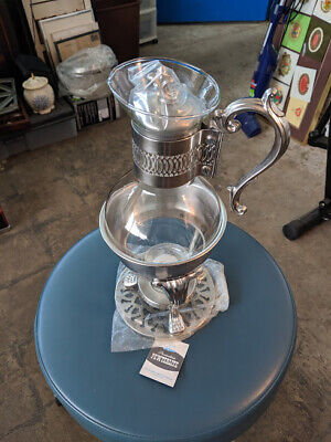 L👀K FB Rogers Silver Co. Provincetown Pewterlite Coffee Carafe Warmer BRAND NEW