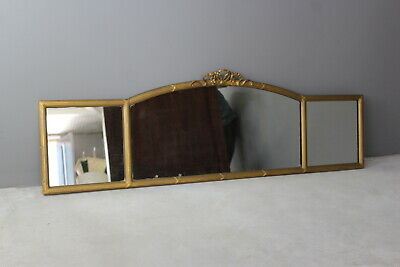 Antique Gilt Frame Over Mantle Wall Mirror