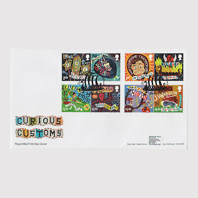 2019 Curious Customs First Day Cover (FDC) - Lerwick Postmark