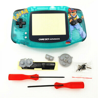 Clear Green Limited Pokemen Shell Case Housing for Nintendo Game Boy Advance GBA