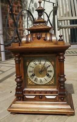 H.A.C. 14 day Black Forest bracket clock.SEE VIDEO.