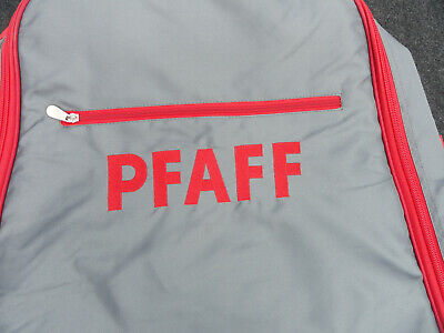 PFAFF Deluxe™  GRAY WITH RED TRIM  Embroidery Unit CARRY CASE   NEW!