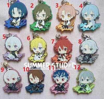 IDOLiSH7 Trigger Re:vale Riku Tenn Keychain Key Ring Rubber Phone Strap Charm