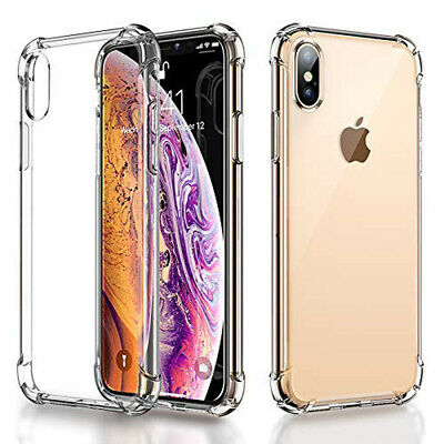 Clear Shockproof Soft Bumper Silicone Case Cover For iPhone XS Max X 6 7 8 5S SE