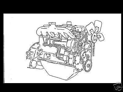 WHITE DIESEL ENGINE MANUAL for 3 4 & 6 Cyl HERCULES D 1500 1700 2000 2300 3400