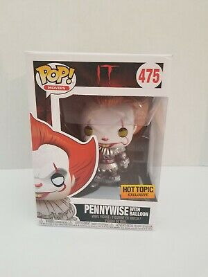 Funko Pop It METALLIC Pennywise with Balloon #475 Hot Topic Exclusive