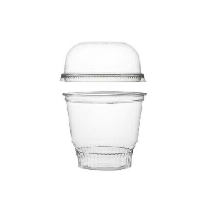 1000 8 oz. PET Crystal Clear Sundae / Dessert Cups Disposable Plastic
