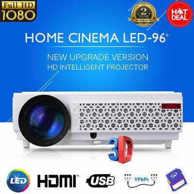 3D LED Projector Full HD 1080P Multimedia Home Theater 2*HDMI 2*USB 5000 Lumens
