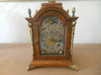 Vintage John Warmink Dutch Moonphase Mantel Clock 1965 - Lovely chimes