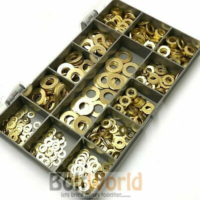 465 Assorted Piece Solid Brass Metric Flat Form A Washers M3 M4 M5 M6 M8 Kit