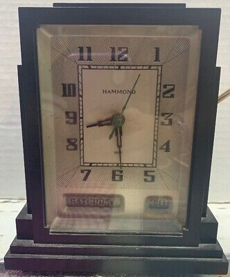 HAMMOND Vintage 1930 Art Deco Antique SKYSCRAPER CLOCK Bakelite - Sold As Is