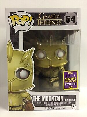 Funko Pop Game of Thrones The Mountain Armoured 54 (Conv. Exclu.) New, Worn Box