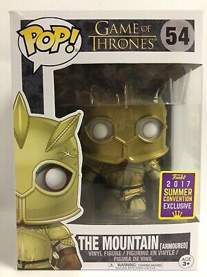 Funko Pop Game of Thrones The Mountain Armoured #54, New In Slightly Damaged Box