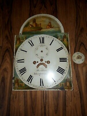 Antique Painted Grandfather/Longcase Clock Dial Face