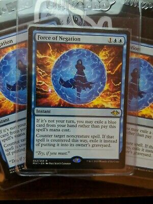 M//NM English Magic MTG - Modern Horizons Force of Negation