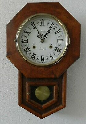 """Nice Formac 31 day wall mount clock with pendulum 12"""" X 19"""" works great"""