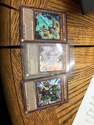Yugioh Hand traps.  Ash Blossom And Joyous Spring, Pankratops, And Lancea. New