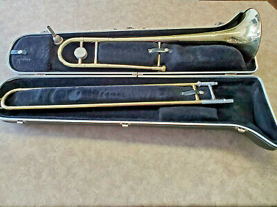 Vintage Student Tenor Trombone with Selmer Hard Case and Mouth Piece