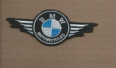 New 1 7/8 X 4 3/4 Inch Bmw Motorcycles Iron On Patch Free Shipping P1
