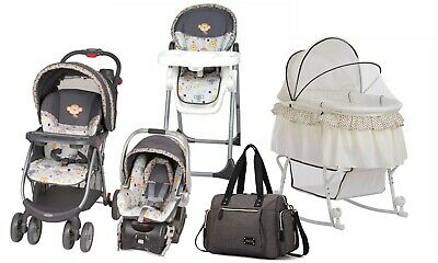 Baby Stroller Car Seat Travel System High Chair Infant Bassinet Diaper Bag Combo
