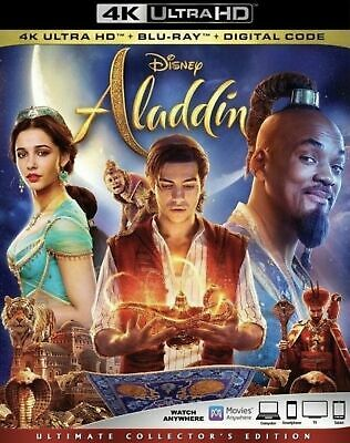 Aladdin (2019) Live Action 4K UHD Disc Only with Case/Cover - Ships Now