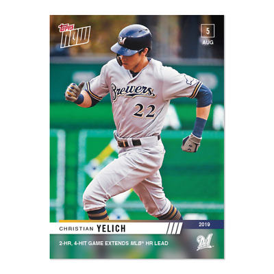 2019 Topps NOW Christian Yelich #640 ~ Milwaukee Brewers ~ Only 225 Printed!