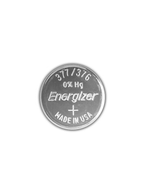 One - New Energizer Super Cell 377 / Ag4 Watch Batteries Factory Sealed