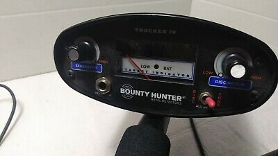 Bounty Hunter Tracker IV Metal Detector Tested Works Great