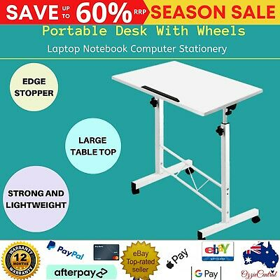 Foldable Laptop Table Height Adjustable Sit Stand Desk Study Office Computer Lap