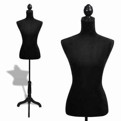 Ladies Bust Display Black Female Mannequin Female Dress Form