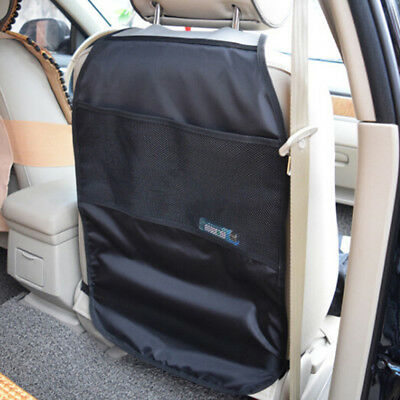 Car seat back protector cover kids kick clean mat protects storage bags SP
