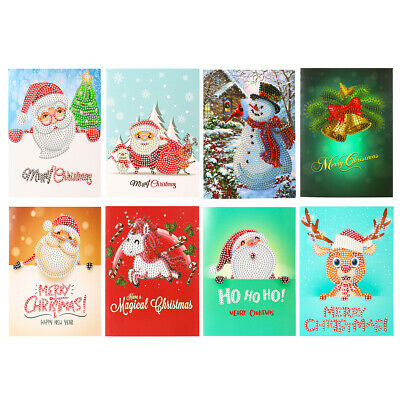 5D DIY Diamond Painting Greeting Card Cross Stitch Christmas Gift Embroidery