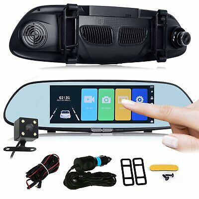 7'' Touchscreen WIFI Android Car DVR HD 1080P Rear View Mirror Dual Lens Camera