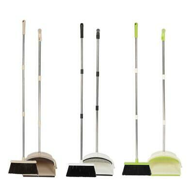 Folding Long Handle Dustpan and Brush Set Stand-up Tool for Sweeping Cleaning