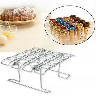 16 Slots Ice Cream Cone Holder Chip Cone Holder Counter Top Display Stand Rack
