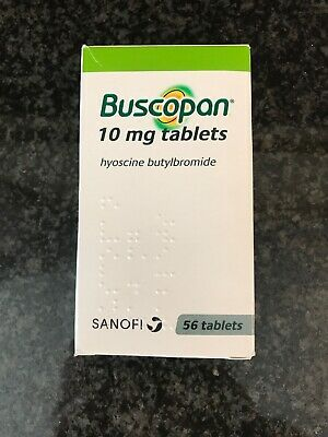 Buscopan 10mg Tablets Box of 56. Free Postage. Exp 07/2023. IBS Relief
