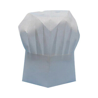 20Pcs White Disposable Non-woven Fabric Chef Hat Baker Kitchen Cooking Cap AU